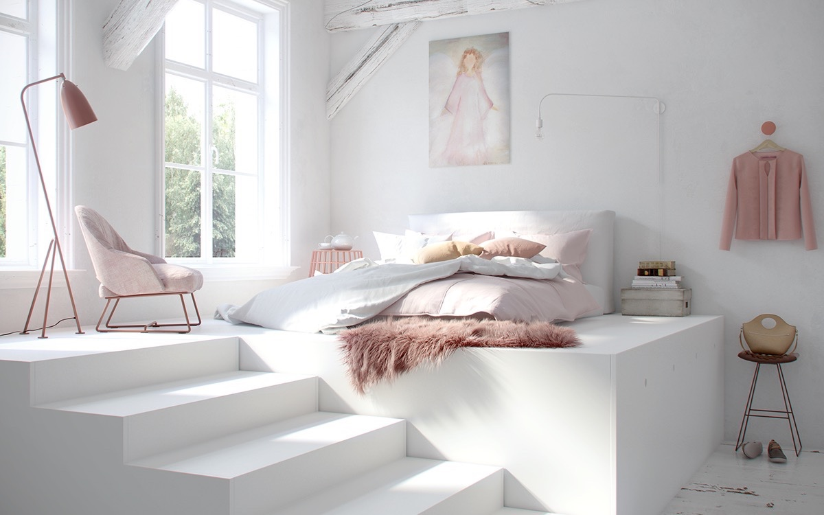 Pink And White Bedroom White Bedrooms For Rest And Relaxation Best Interior Design Ideas