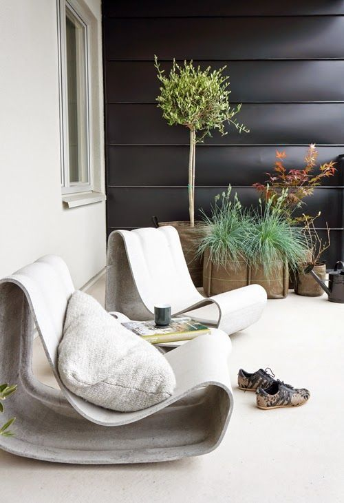 awesome Loop chairs with comfy pillows will be ideal for any patio