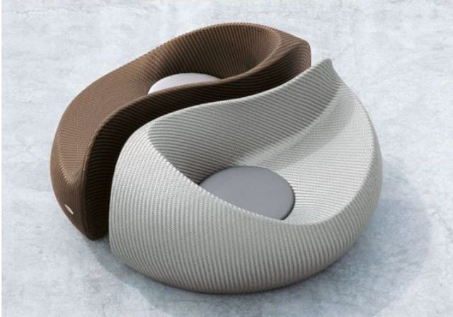 Yin Yang chair of practical materials is ideal for a modern outdoor space