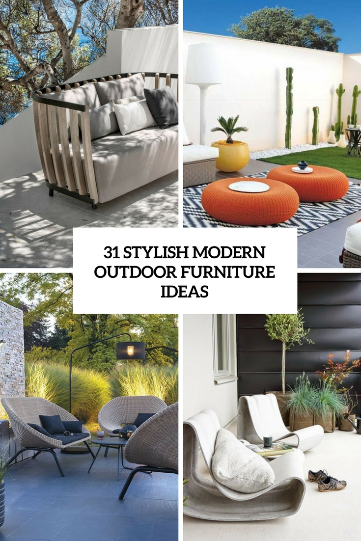 stylish modern outdoor furniture ideas cover