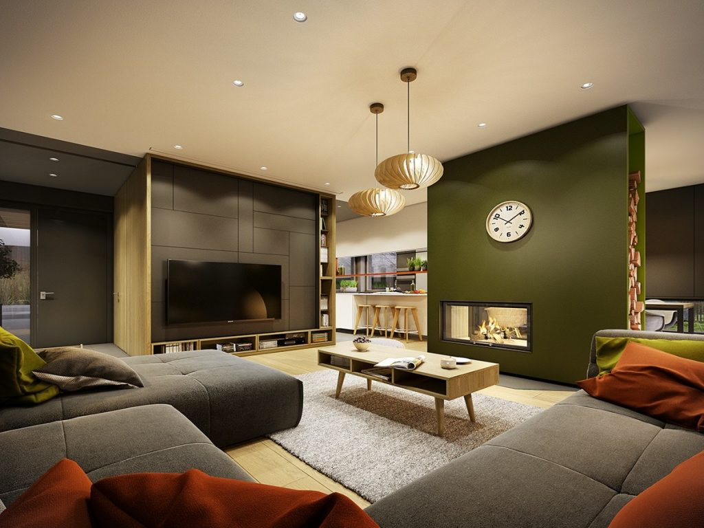 Gorgeous Contemporary Home with Autumnal-Hued Decor