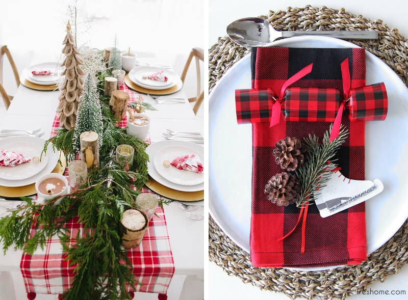 how to set the Christmas table - freshome.com