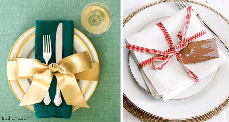 table setting ideas for Christmas - freshome.com