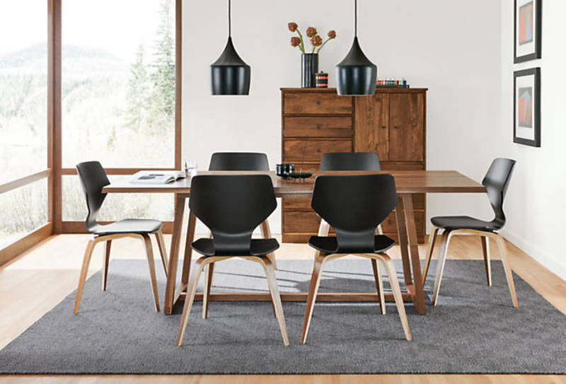 Mid Century modern dining room chairs and modern dining chairs in stores now - freshome.com