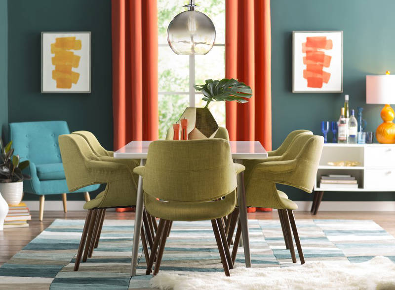 upholstered dining chairs and retro dining room chairs - freshome.com
