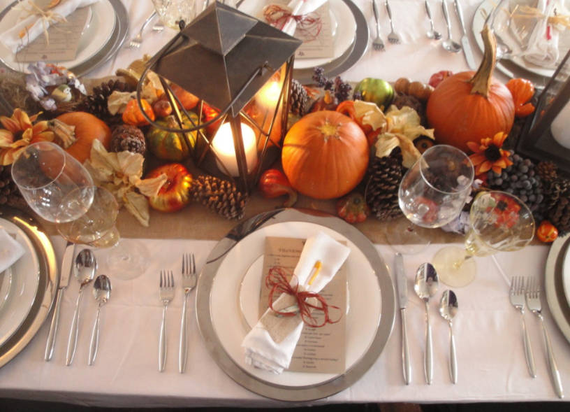 thanksgiving table decorating ideas - freshome.com