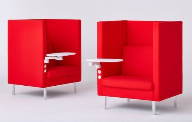 Tuxedo High Back Chair For Privacy And Seclusion