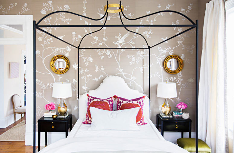 01-This-girlish-bedroom-boasts-of-glam-touches-and-chic-and-fresh-decor-775x509